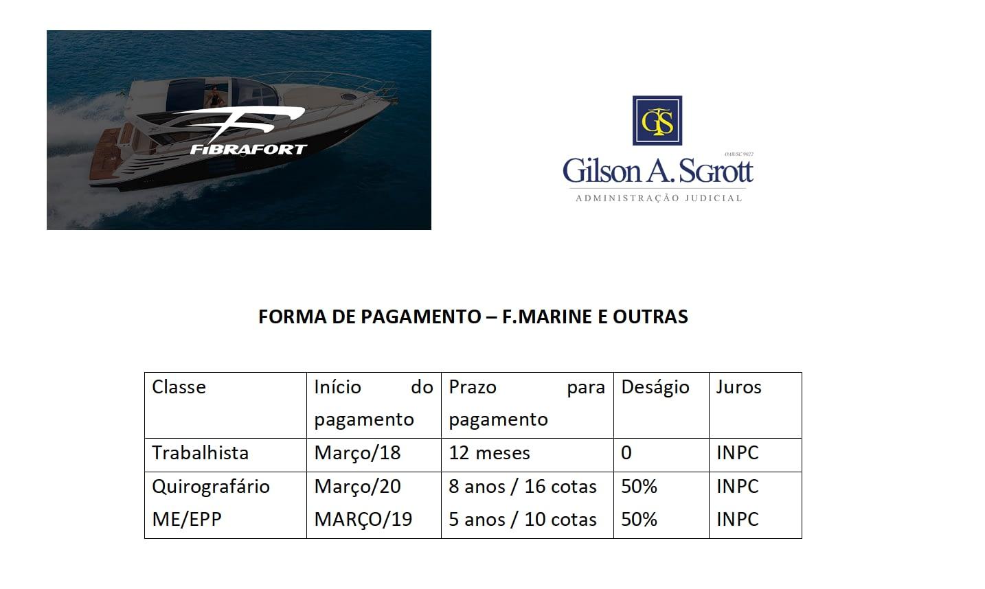 Forma de Pagamento – F. Marine